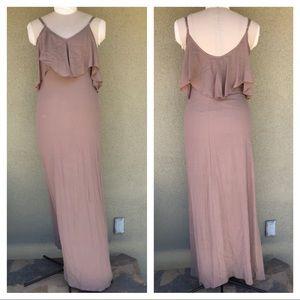 Flynn Skye taupe Bridal Maxi dress